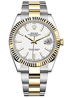 Rolex Datejust 41 Stainless Steel & 18K Yellow Gold Oyster Watch White Dial 126333 by Rolex