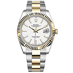 Rolex Datejust 41 Stainless Steel & 18K Yellow Gold Oyster Watch White Dial 126333