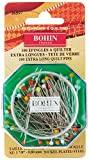 Bohin 26597 Quilting Glass Head Pin Size 30 - 1 7/8in 100ct