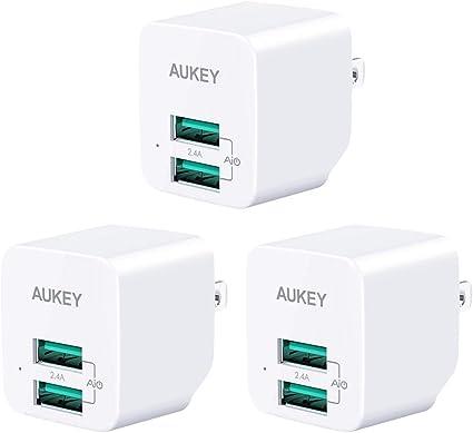 Amazon.com: AUKEY - Cargador de pared USB ultra compacto con ...