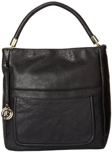 London Fog Aden Hobo Top Handle Bag,Black,One Size, Bags Central