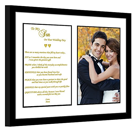Son Wedding Gift from Mom - Touching Mother to Son Poem - Add Photo to Frame