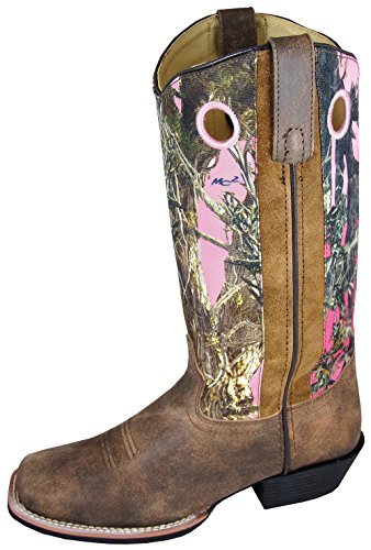 Smoky-Mountain-Womens-Tupelo-Camo-Cowgirl-Boot-Square-Toe-Brown-US-55M