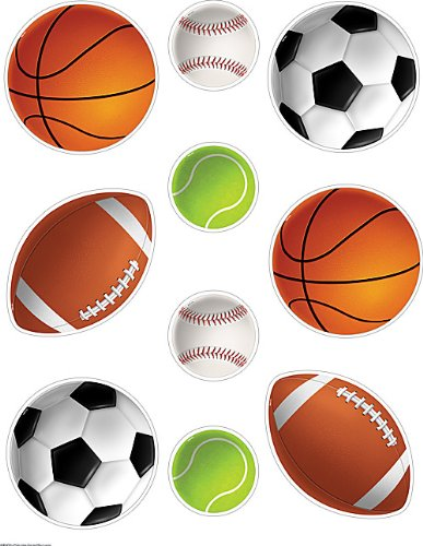 (Teacher Created Resources 4086 Sports Balls Accents)
