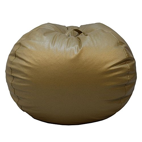 (Ace Casual 1082201 Casual Basketweave Round Bean Bag Chair, Jumbo, Gold)