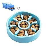 REDELK Slow Feeder Dog Bow Dog Chew Toys Pet Fun Feeder,Interactive Bloat Stop Dog Bowl,Non Skid Design,Dog water bowl,Maze bowl