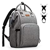 Diaper Bag Backpack Nappy Bag Upsimples Baby Bags for Mom and Dad Unisex Maternity Diaper Bag with USB Charging Port Stroller Straps Thermal Pockets,Gray