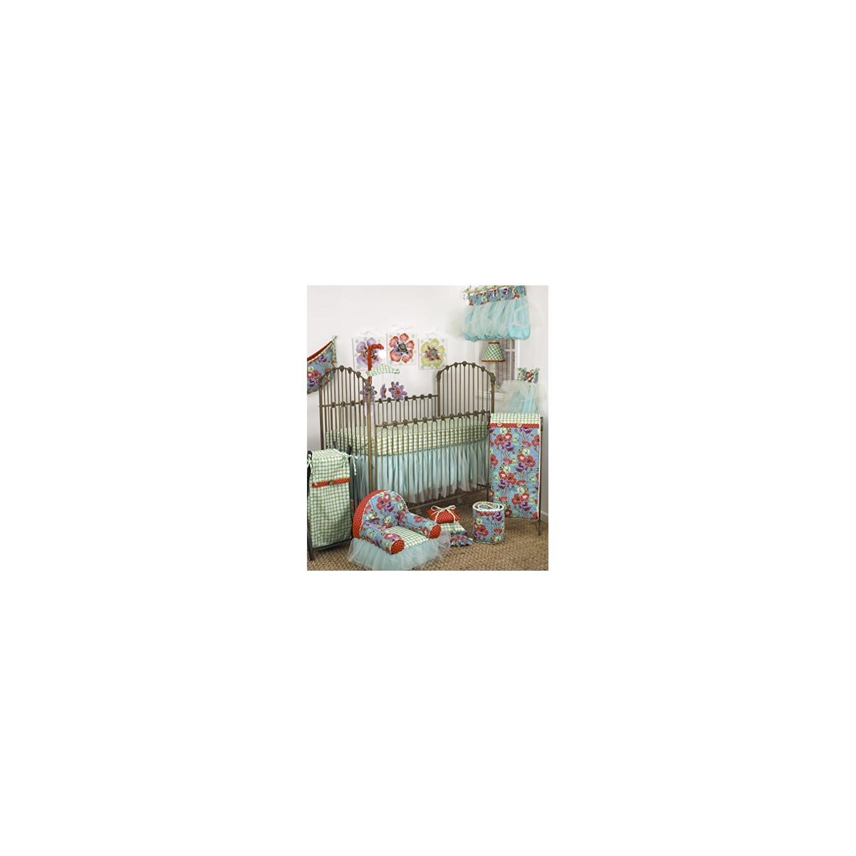 Cotton Tale Designs Lagoon 7 Piece Set, Turquoise/Purple/Orange/Green, Standard Crib