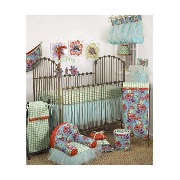 Cotton Tale Designs Lagoon 7 Piece Set, Turquoise/Purple/Orange/Green, Standard Crib