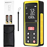 Laser Measure 196Ft, papasbox Laser Distance Meter with Angle electronic sensor Portable Digital Measure Tool with m/in/ft Conversion, Pythagorean Mode, Distance/Area/Volume Measurement