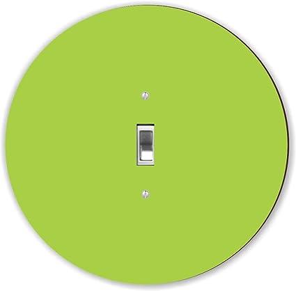 Rikki Knight Rnd Lsps 168 Round Single Toggle Light Switch Plate Lime Green Amazon Com