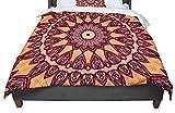 KESS InHouse Iris Lehnhardt ''Colors of Africa'' Brown Orange Queen Comforter, 88'' X 88''