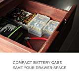Whizzotech AA and AAA Battery Storage Case Holder