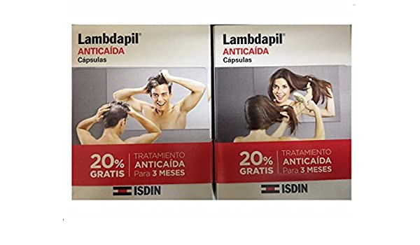 Amazon.com : ISDIN LAMBDAPIL ANTI HAIR LOSS ANTICAIDA 180 CAPSULES : Beauty