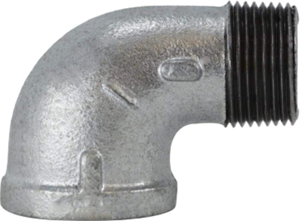 Steel Size 2-1//2 2-1//2 Midland Metal Midland 64-169 Galvanized Steel Malleable Street Elbow 90/°