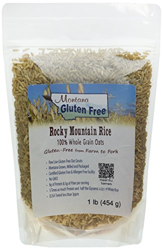 Groats Raw Oat - Montana Gluten Free Rocky Mountain Rice Sproutable Oat Groats, 1 Pound