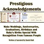 Prestigious Acknowledgments | Daniel Hall