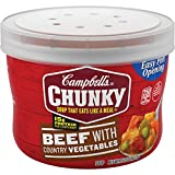 Campbell's Chunky Beef with Country Vegetables Soup Microwavable Bowl, 15.25 oz. (Pack of 8)