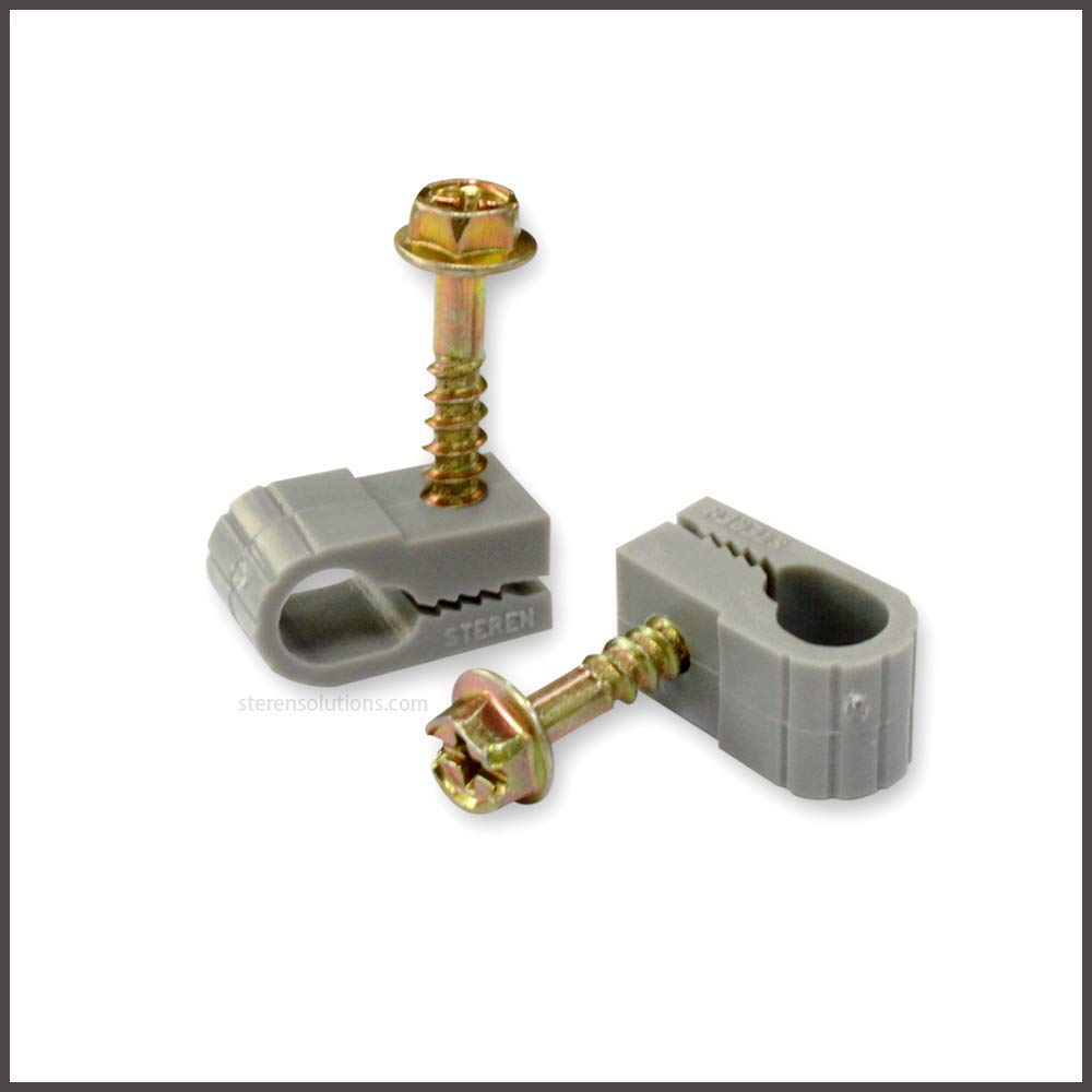 STEREN Grip-Clip Single Coaxial Cable Mounting