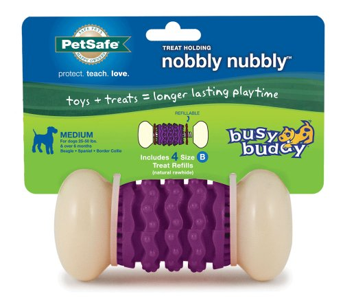 PetSafe Busy Buddy Nobbly Nubbly Dog Toy, Medium -
