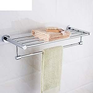 estante de toalla/ estante de ducha acero inoxidable cuarto de baño/Hotel toallero/accesorios de baño-A: Amazon.es: Bricolaje y herramientas