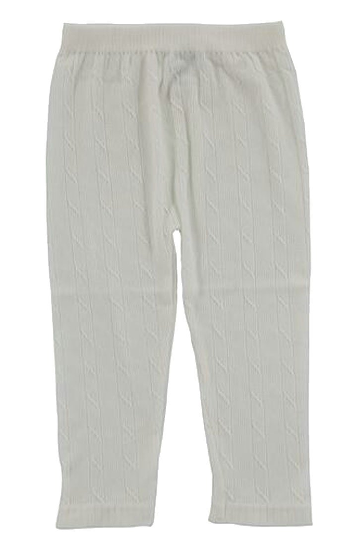 Wofupowga Girls Simple Stretchy Elastic Rise Toddler Children Solid Color Pant White 4T
