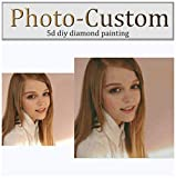 OneHippo 5D DIY Diamond Painting Private Custom Photo Personalized Photo Make Full Drill Diamond Rhinestone Embroidery with Round/Square Beads Make Your Own Picture