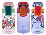 Contigo 14oz Kids Autoseal Gizmo Sip Water Bottles- Ballet, Wink & Love (3 Pack) - Perfect for Children & Parents on the Go