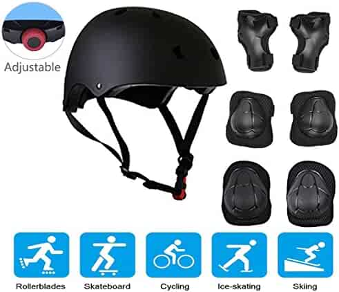 5727add4a9b JIFAR Adjustable Helmet Protective Pads Knee Elbow Pads Wrist Guards Sports  Support Safety Set Equipment Scooter