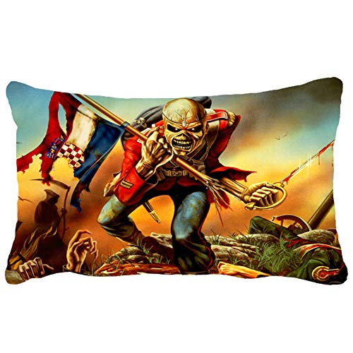 - giuffyt Iron Maiden Evil Eddie Skull Poster Pillow Case 19.66 X 25.6 in
