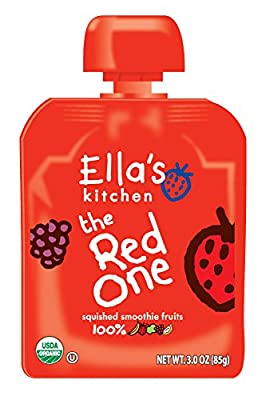 Ella's Kitchen Organic Smoothie Fruits, The Red One, 3 Ounce (Pack of 6) from Ella's Kitchen