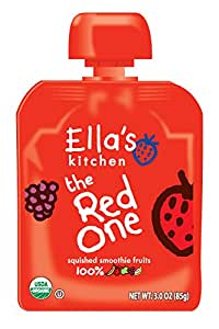 Ella's Kitchen Organic Smoothie Fruits, The Red One, 3 Ounce (Pack of 6)