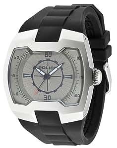 POLICE 13452JS/61 - Reloj para hombres, correa de silicona color negro