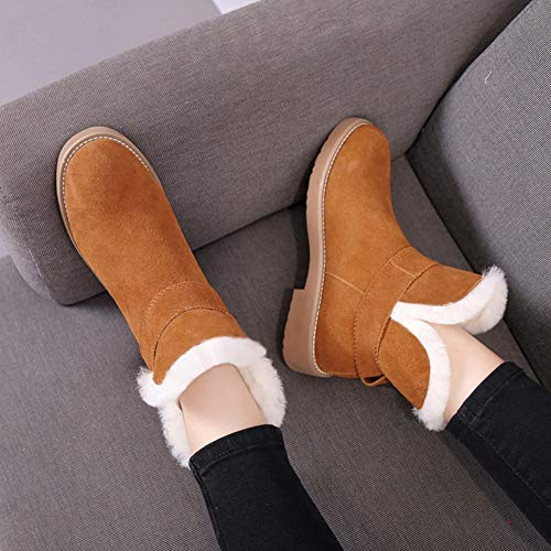 Winter Fashion thirty Women's brown Warmth Joker Shoes Snow Ykfchdx five Boots 6ExB1qnw