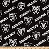 Fabric Traditions NFL Cotton Broadcloth Oakland Raiders Black/Silver Fabric By The Yard