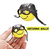 jaysuingus Mini Smart Polo Car Antenna Ball Exterior Cute Car Foam Balls Mirror Dangler for Car Decorate Toys (yellow)