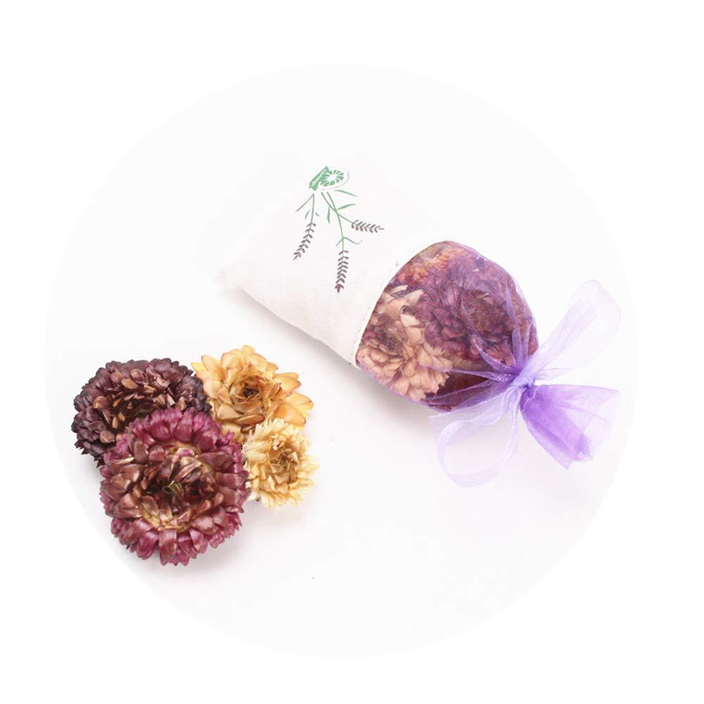Sevem-D Lavender Rose Bud Dried Flower Stamen Sachet Car Wardrobe Deodorant Lasting Mosquito Repellent Sachet,Chrysanthemum