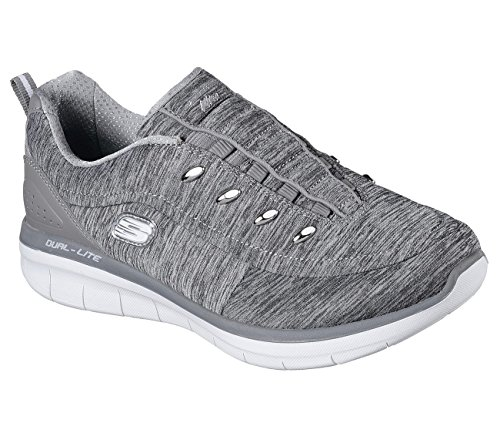 Synergy Sneaker Grey Fashion Wide Women's 0 Scouted 2 Skechers 68w54qnx