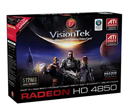 VisionTek ATI Radeon HD 4850 512 MB GDDR3 PCI Express Graphics Card 900241