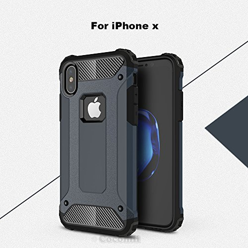 iPhone X Case, Cocomii Commando Armor NEW [Heavy Duty] Premium Tactical Grip Dustproof Shockproof Hard Bumper Shell [Military Defender] Full Body Dual Layer Rugged Cover Apple (Metal Slate)