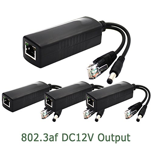 ANVISION 4-Pack Active PoE Splitter Adapter IEEE 802.3af ...