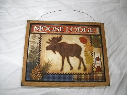 Moose Lodge Cabin Camper Wooden Wall Art Sign Pine Cones Fishing Lake (Pine Cone Art)