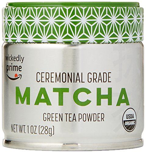 Wickedly Prime Organic Matcha Green Tea, Ceremonial Grade Powder, 1 Ounce