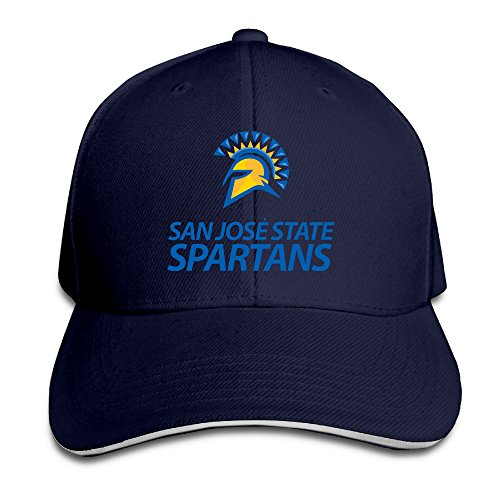 Harriy San Jose #22 State Spartans UV Protect Sandwich Hat Navy (San Jose Costume)