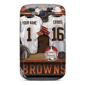 Ideal Collect Saving Case Cover For Galaxy S3(cleveland Browns Uniform), Protective Stylish Case