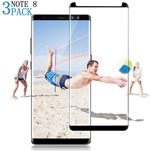 [3-Pack] Galaxy Note 8 PET Screen Protector, Muanbol [Bubble Free ][Easy Installation] 3D PET HD Screen Protector Film Compatible Samsung Galaxy Note 8 - Black