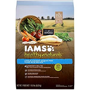 IAMS HEALTHY NATURALS Adult Ocean Fish and Rice Recipe Dry Dog Food 19.0 Pounds