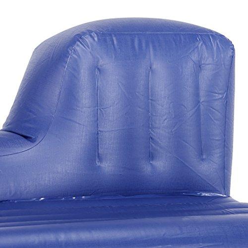 Pinty Car Travel Inflatable Mattress Air Cushion Backseat Camping with Pump, 2 Pillows (Black)