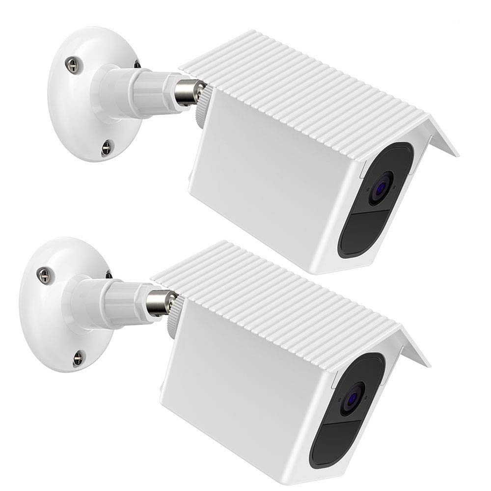 HOLACA Wall Mount Bracket,Weather Proof 360 Degree Protective Adjustable Indoor and Outdoor Mount Cover Case for Arlo Pro and Arlo Pro 2 (White, 2 Pack)