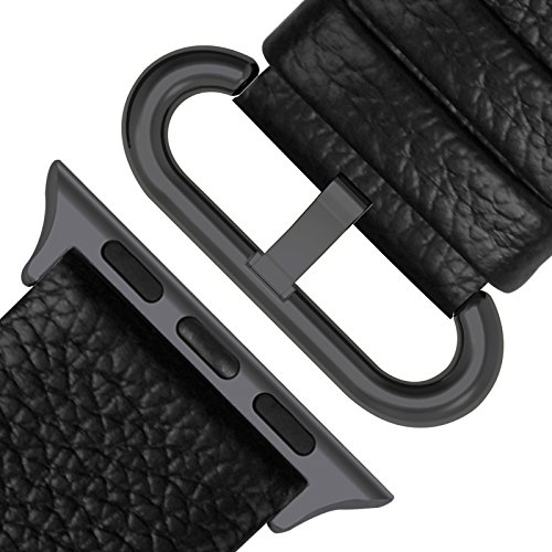 Fullmosa Apple Watch Band 42mm and 38mm, Genuine Leather iWatch Strap/Band for Apple Watch Series 3, Series 2, Series1 Nike+ Hermes&Edition